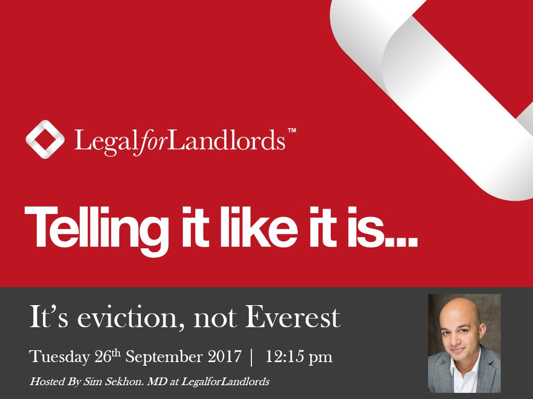 It's eviction, not Everest (Webinar)
