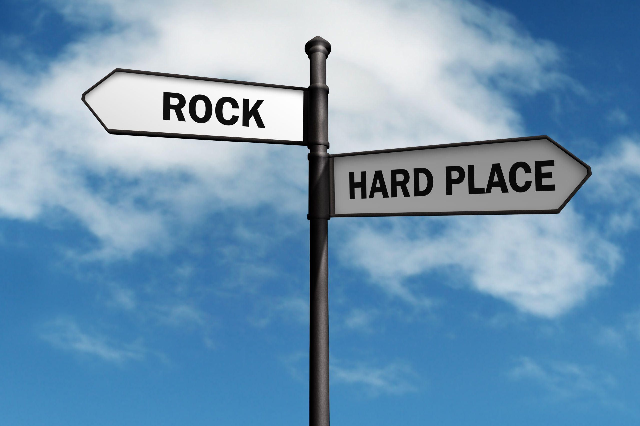 Between a rock and a hard place?